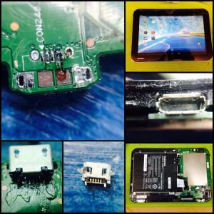 Επισκευή βύσματος τροφοδοσίας USB σε Toshiba AT10 - Αθήνα