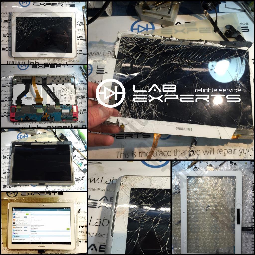 Επισκευή σπασμένης οθόνης σε SAMSUNG GT-P5100