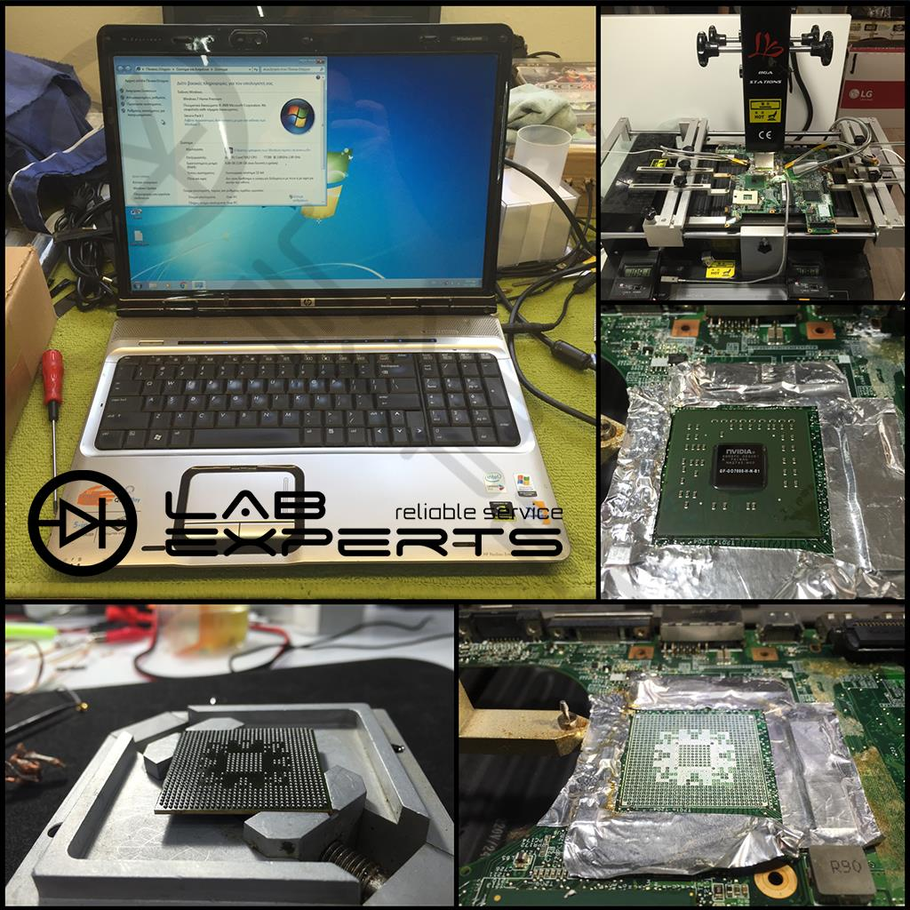 Επισκευή κάρτας γραφικών σε HP DV9000