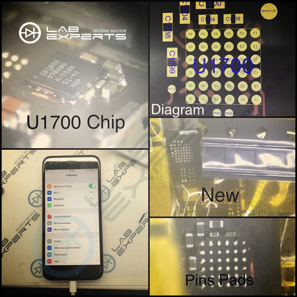 Επισκευή τσιπ φόρτισης U1700 σε iPhone 6