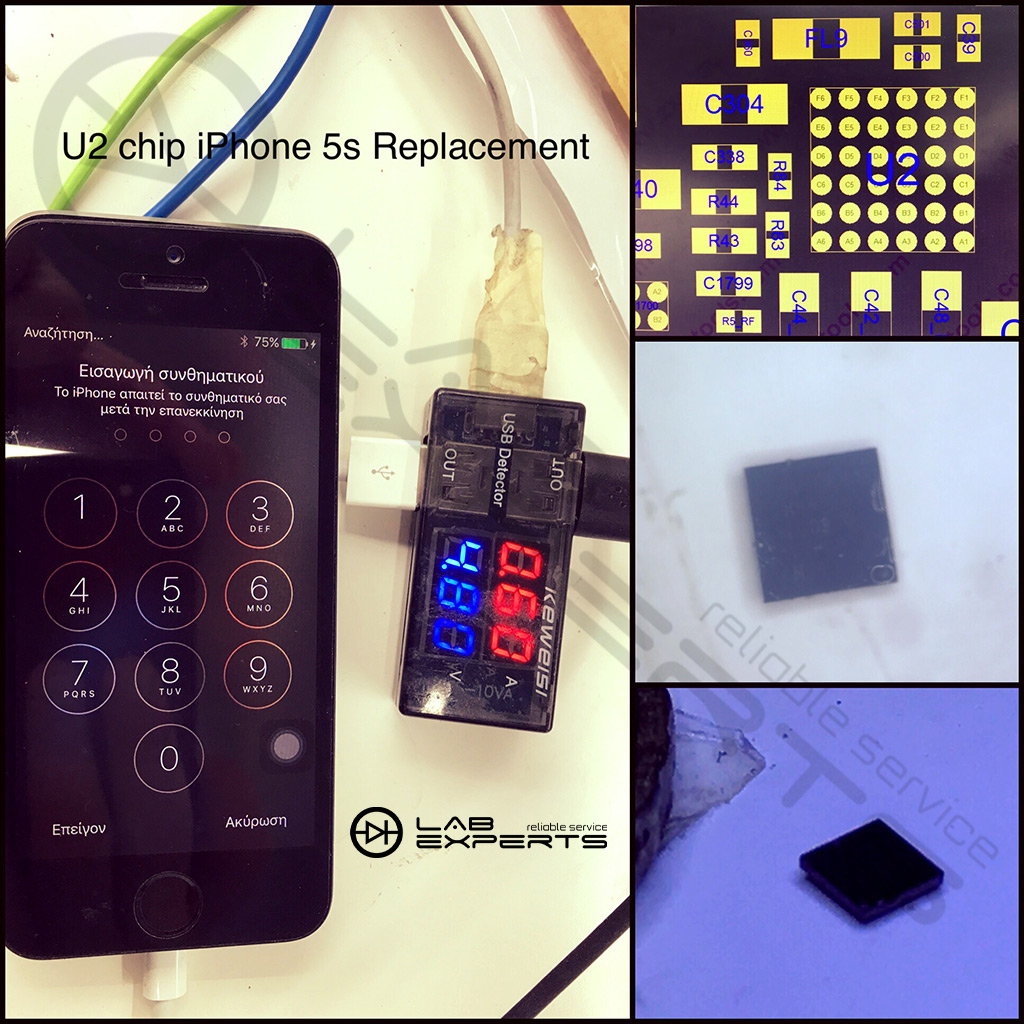 Αντικατάσταση U2 Charging Chip σε iPhone 5s