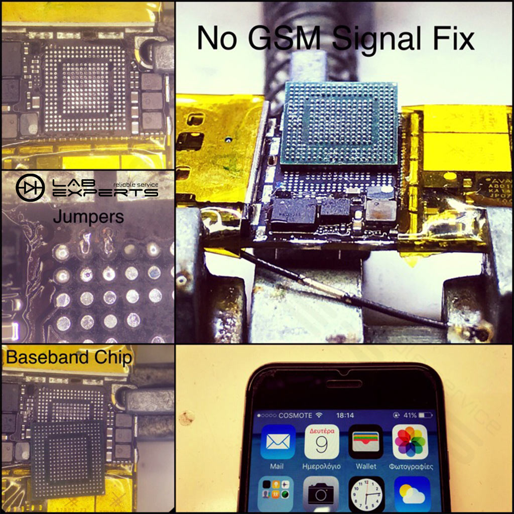 Δεν πιάνει σήμα το iPhone 6? Επισκευή Baseband Chip