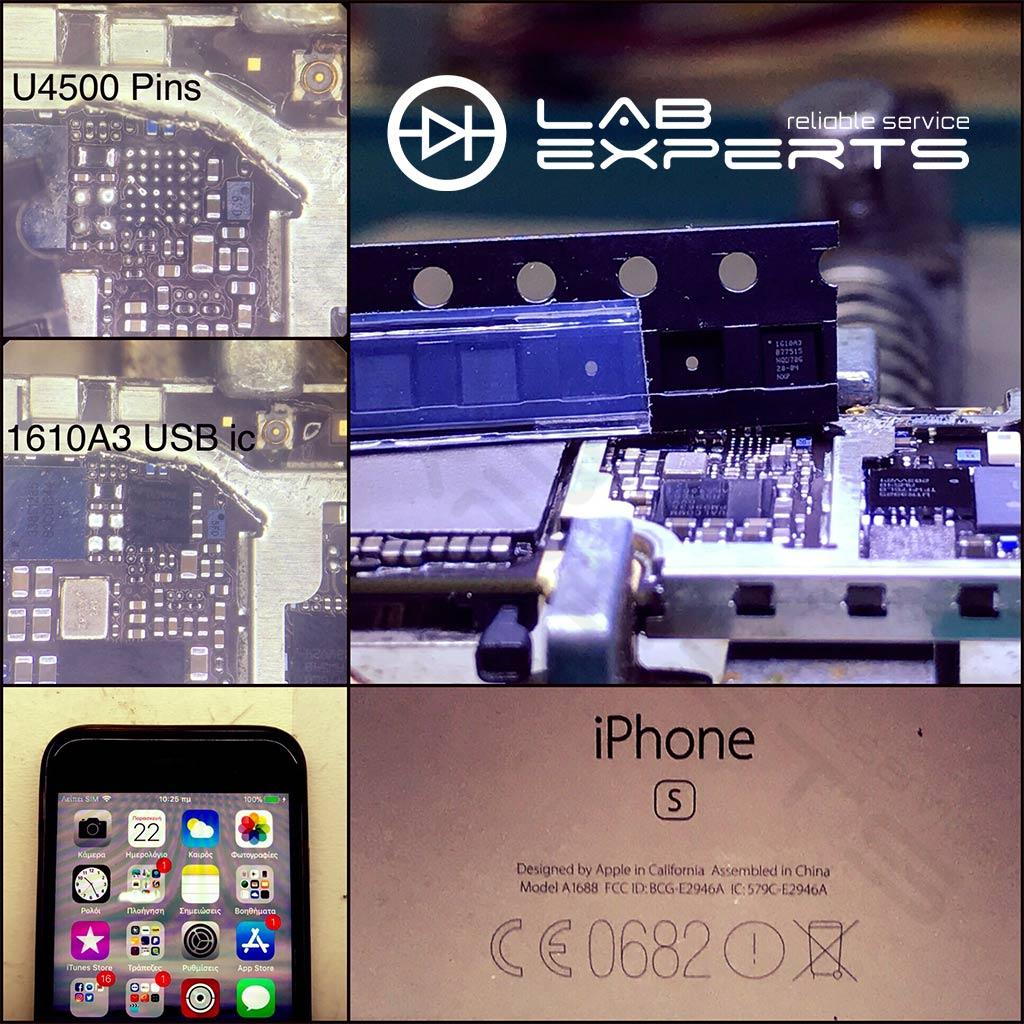 Δεν φορτίζει το iPhone 6s - Επισκευή Charging Chip