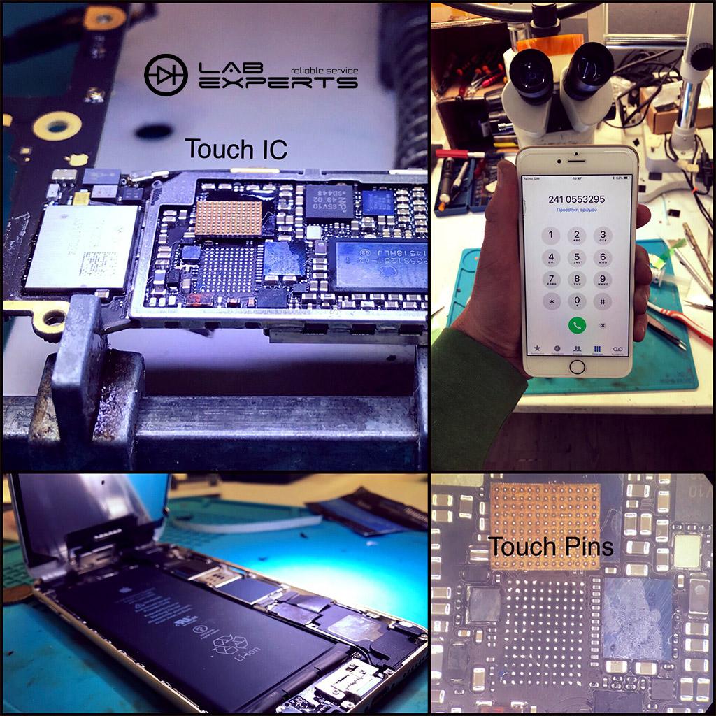 Επισκευή αφής σε iPhone 6 Plus με Microsoldering