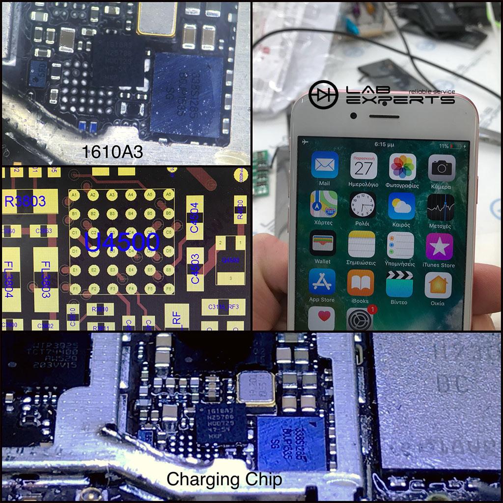 Ξεφορτίζεται γρήγορα το iPhone 6s? Επισκευή Chip Φόρτισης